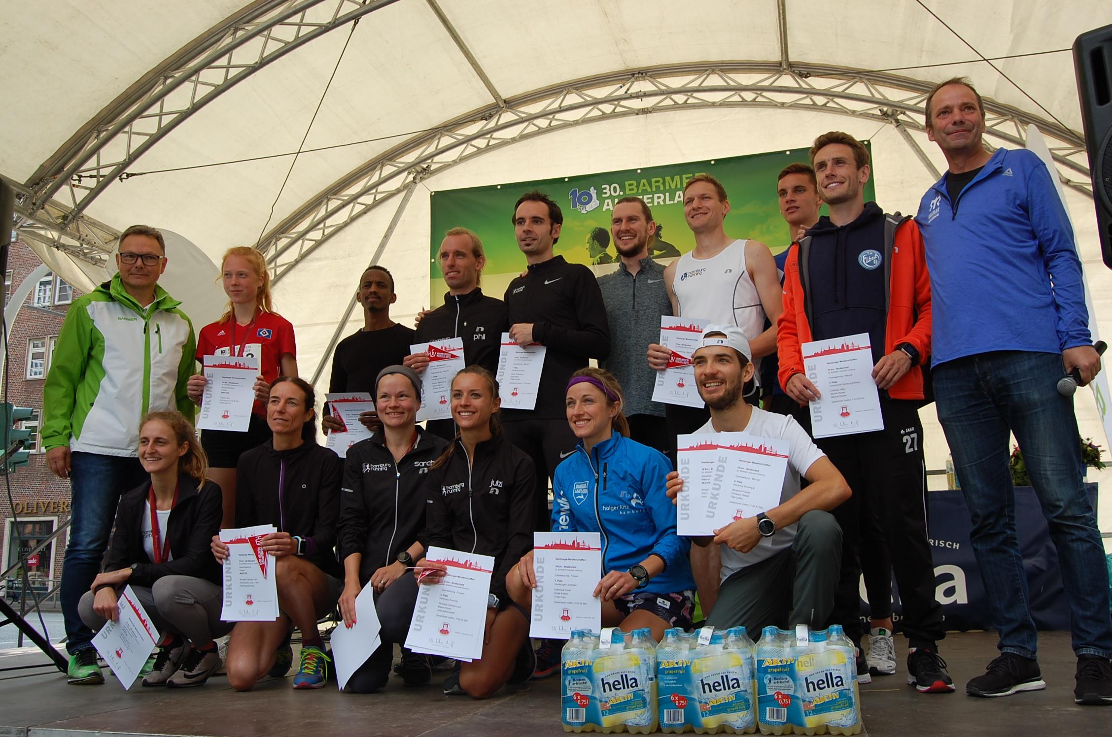 30. BARMER Alsterlauf: Siegerehrung Hamburger Meisterschaft alle und Mannschaften